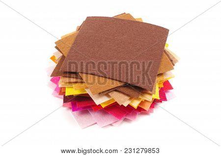 Various Colors Square Felt Samples For Textile Design