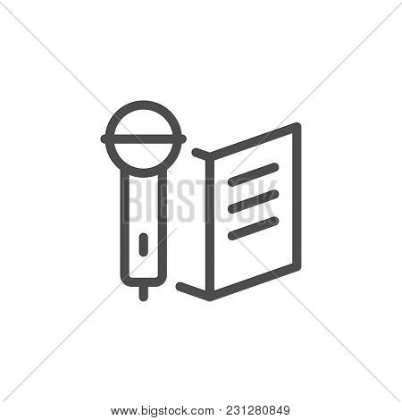 Ceremony Line Icon Isolated On White. Vector Illustration