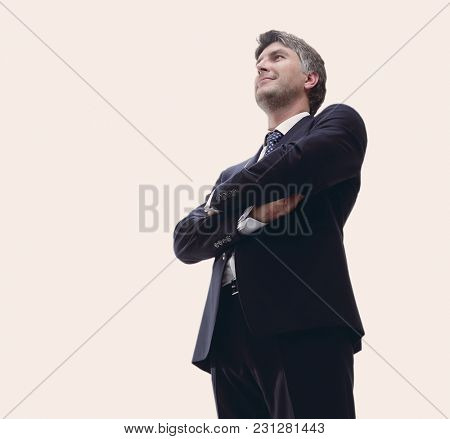 In full growth. Confident businessman