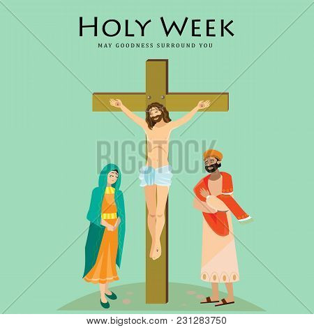 Holy Week Good Friday, Crucifixion Of Jesus And His Death, Stations Of Cross, God Passion, Easter Tr