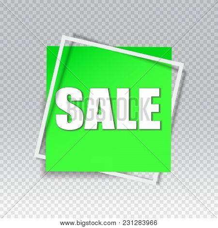 Big Sale square banner. Black Friday design template. Sale background. Sale sticker. Vector illustration. Sale offer.