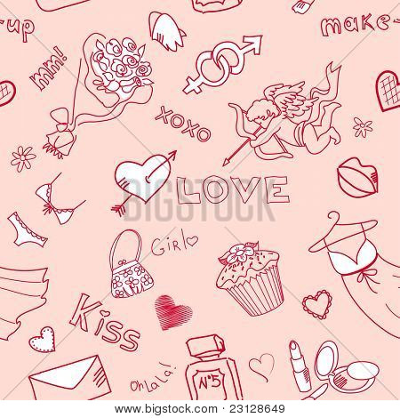 Love Seamless Doodles