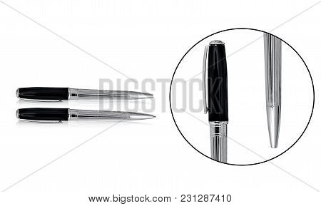 Premium Quality Ballpoint Pen Sets With Black And Silver Combination That Is Perfect For Gift Giving