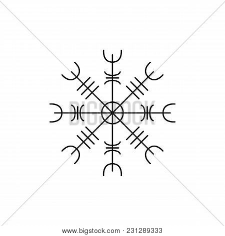 Viking Symbol Icon. Outline Viking Symbol Vector Icon For Web Design Isolated On White Background