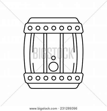 Barrel Of Beer Icon. Outline Barrel Of Beer Vector Icon For Web Design Isolated On White Background