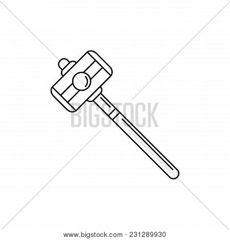 Hammer Icon. Outline Hammer Vector Icon For Web Design Isolated On White Background
