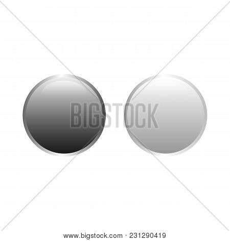 Vector Buttons Design Elements. Colorful Interface Navigation Buttons Web Icon Element. Bright Circl