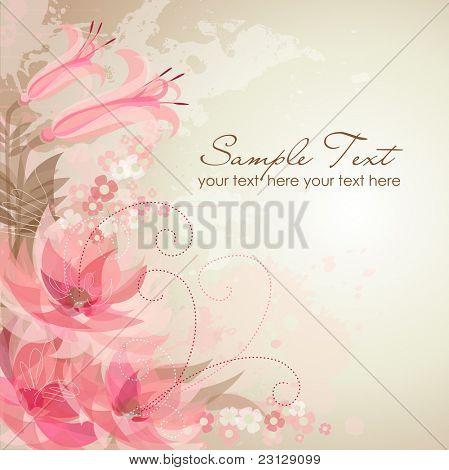 Romantische Blume-Hintergrund
