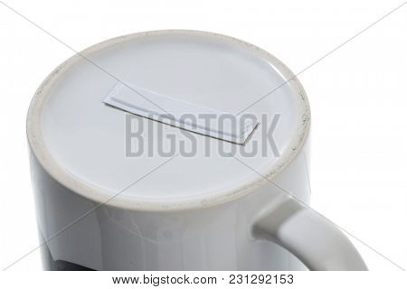 Security Tag on Porcelain
