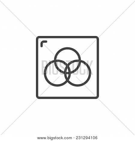 Rgb Color Circles Outline Icon. Linear Style Sign For Mobile Concept And Web Design. Cmyk Simple Lin