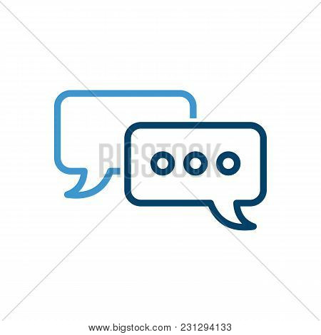 Outline Chat Icon Isolated On Grey Background. Line Dialogue Pictogram.