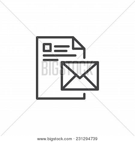 Email Message Outline Icon. Linear Style Sign For Mobile Concept And Web Design. Letter Message Simp