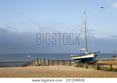 Fishing Boats In The Harbour At Whitstable, Kent