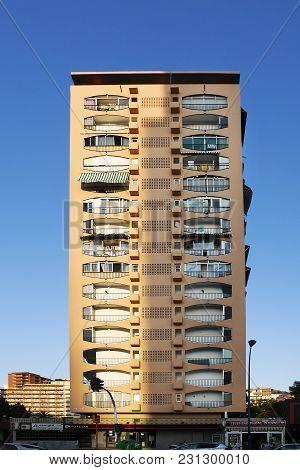 Benidorm, Spain - July 20, 2015: The Skyscraper. Benidorm Is A Coastal City In Alicante. Benidorm Is