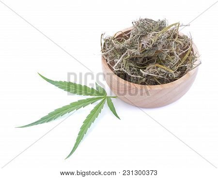 Marijuana Weed Smoking Close Up On Background