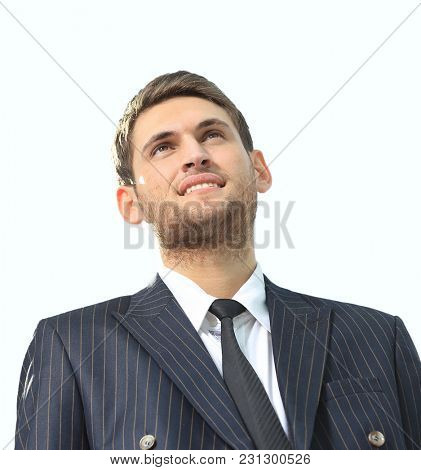 portrait of a successful lawyer isolated on white background