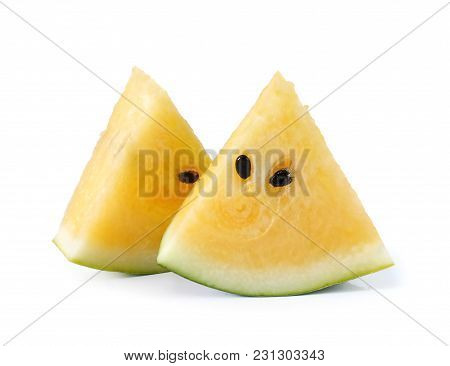 Water Melons Isolated Close Up On White Background