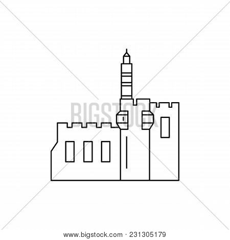 Tower Icon. Outline Tower Vector Icon For Web Design Isolated On White Background