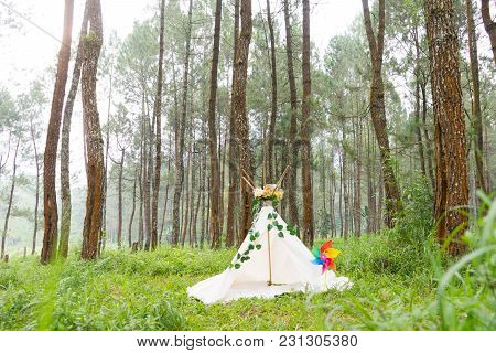 Tee Pee Indian Apache House At Rubber Forest Theme For Photoshoot Background