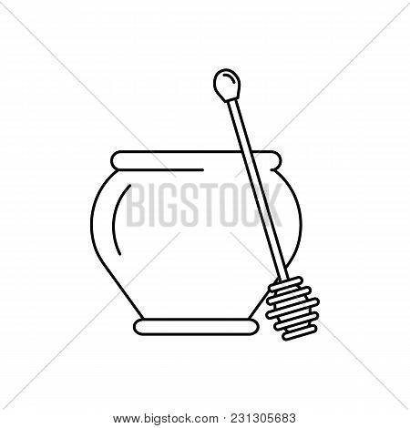 Honey Icon. Outline Honey Vector Icon For Web Design Isolated On White Background