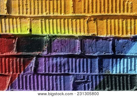 Graffity Wall Close-up. Abstract Detal Of Urban Street Art Design. Modern Iconic Urban Culture, Styl