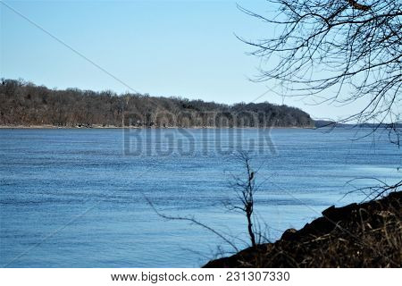 View Of The Mississippi River From East Central Missouri