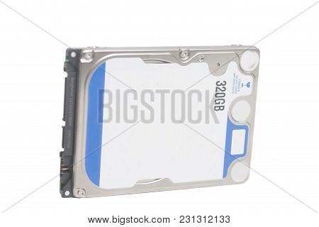 Computer Hard Disk Drive Hdd 320 Gb For Notebook Isolated On White