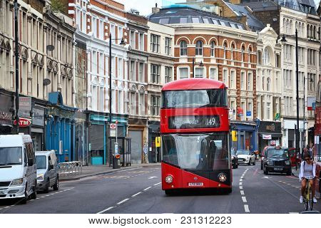 London, Uk - July 9, 2016: People Ride A New Routemaster City Bus In London, Uk. Transport For Londo