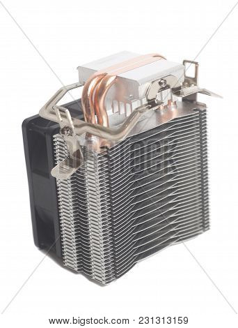 Computer Fan Cooler Isolated On A White Background