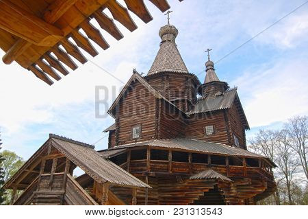 Russian old wooden house