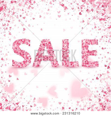 Clearance Sale On Valentine's Day. Discounts.