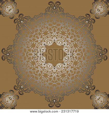 Vintage Retro Ceramic Tile Pattern. Vector Tile Pattern. Antique Retro Ceramic Tile Patter Can Be Us