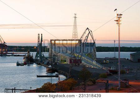 Kotka, Finland - June 04, 2017: View To The Vellamo Sea Center On A White Night