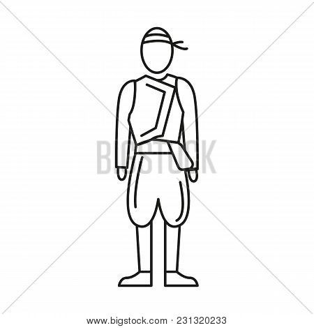 Cyprus Man Costume Icon. Outline Cyprus Man Costume Vector Icon For Web Design Isolated On White Bac