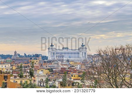 Rome Aerial View From Pincio Viewpoint