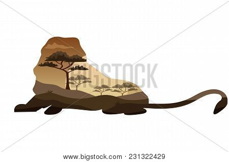 Poster On Themes Wild Animals Of Africa, Safari, Animals Of The Savannah, Survival In The Wild, Hunt