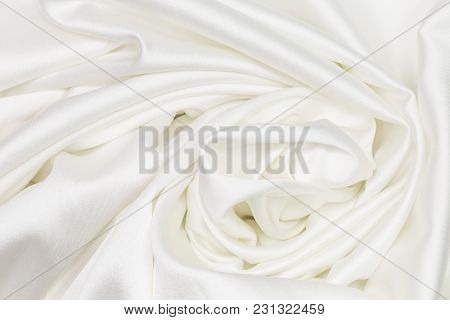 Natural Fabric Linen Texture For Design. Sackcloth Textured. Canvas For Background. Image Has Shallo