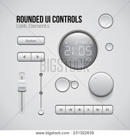 Web Ui Controls Design Elements Buttons. Gradient, Software, Site, Screen, Editable