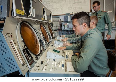Moscow, Russia - Autumn 2014: Students Of The Military Department Of Electronic Technology Institute