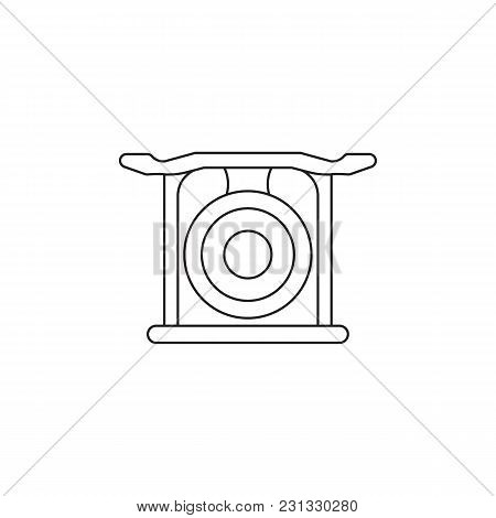 Korean Gong Icon. Outline Korean Gong Vector Icon For Web Design Isolated On White Background