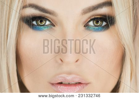 Woman With Eye Color, Makeup Face, Beauty. Skincare, Skin Treatment, Therapy. Beauty, Look, Youth, M