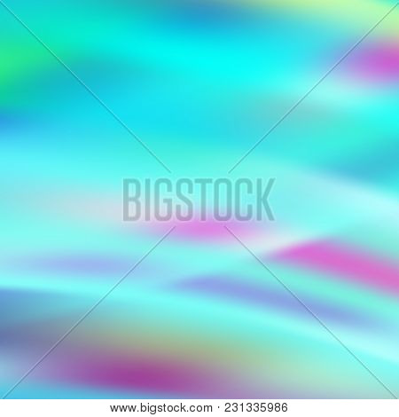 Holographic Background. Vibrant Neon Pastel Texture. Hologram For Print And Web Design. Hipster Styl