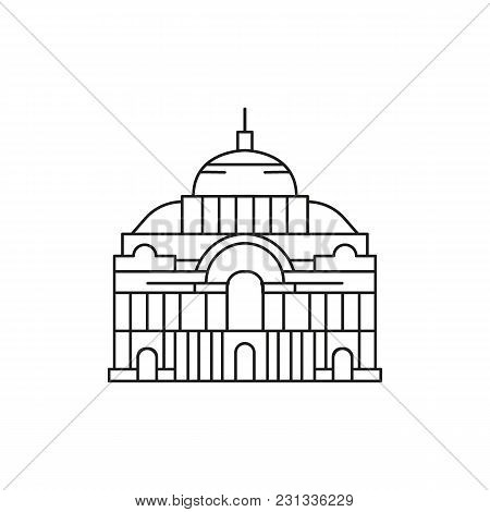 Palace Icon. Outline Palace Vector Icon For Web Design Isolated On White Background