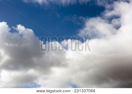 Blue Sky Background With Clouds . Sky With Clouds