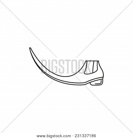 Pointy Boots Icon. Outline Pointy Boots Vector Icon For Web Design Isolated On White Background