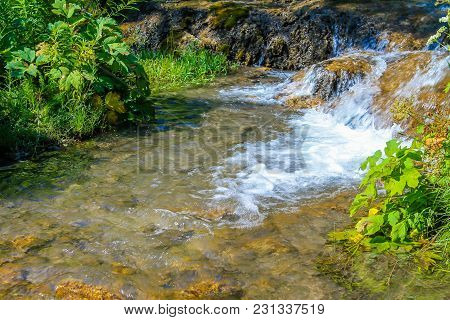 Flowing Water, Big Hill Springs Provincial Recreation Area, Alberta, Canada