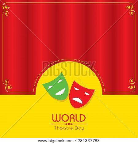 Vector Template For World Theatre Day, Creative Design Illustration, 27th March.