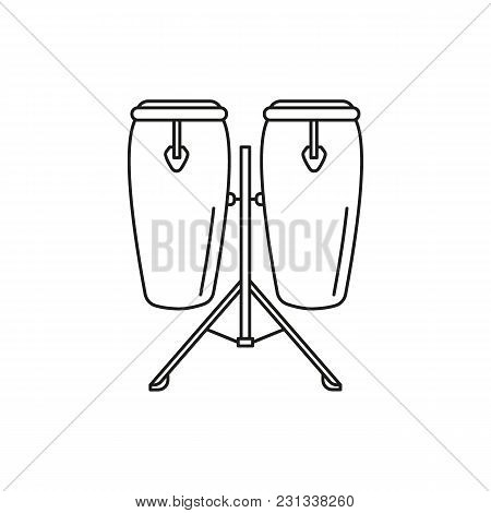 Conga Drum Icon. Outline Conga Drum Vector Icon For Web Design Isolated On White Background