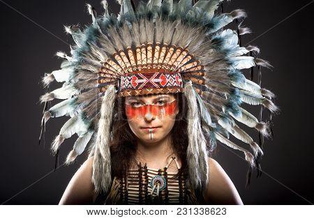 Native American Indian Chief War Bonner Headdress