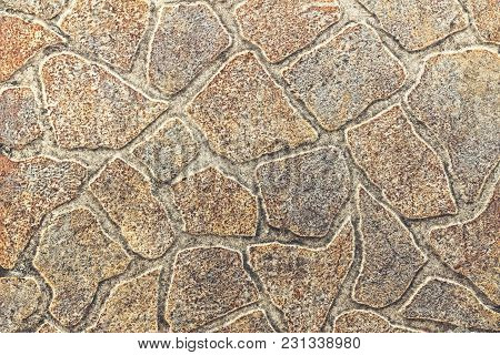 Asphalt, Paving Slabs. Abstract Background Of Imitation Cobblestones, Pastel Colors